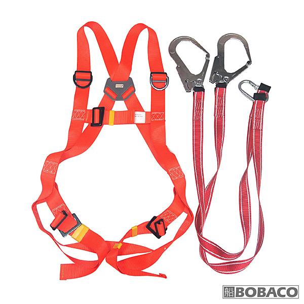 博士牌【背負式安全帶(織帶式)雙大鉤】附收納包 全身安全帶 高空作業 工安設備 工程安全帶