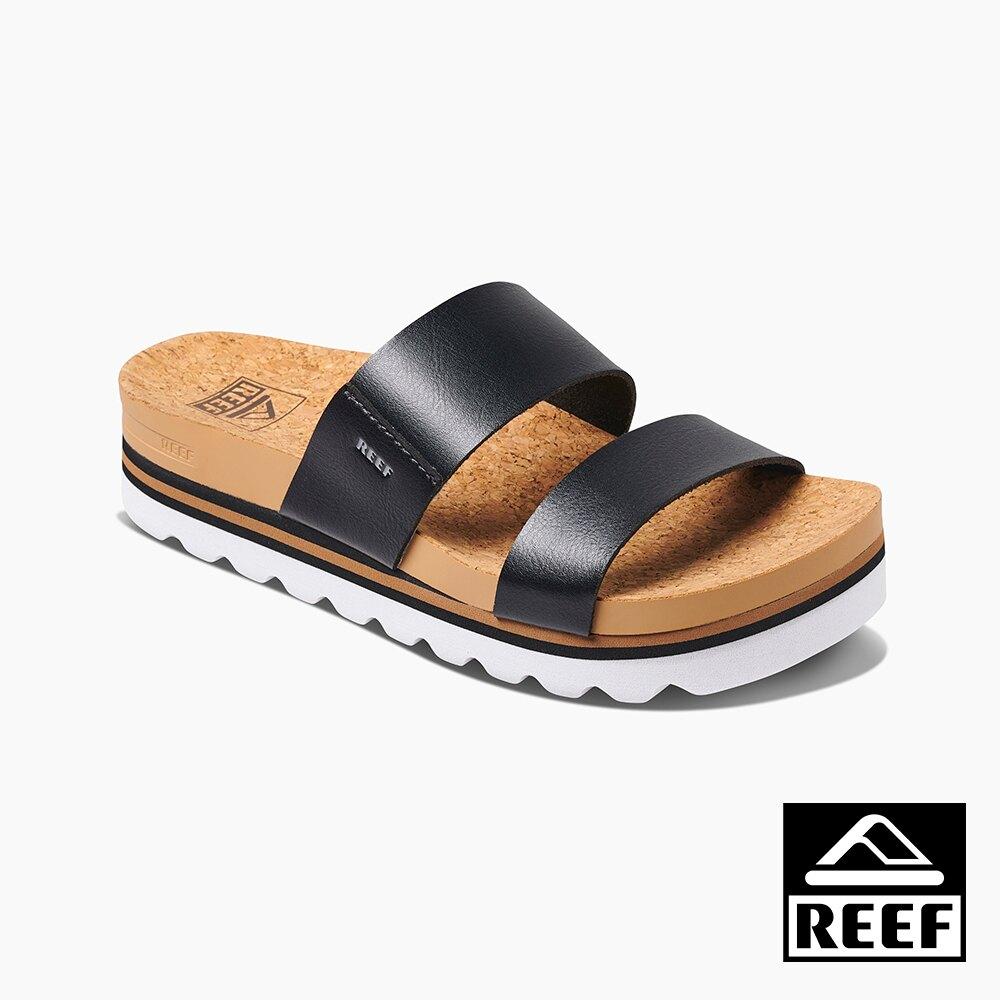 REEF 能量彈力系列 非夾腳兩片式織帶厚底 女款拖鞋 - 黑 S20 RF0A3YP5BLA