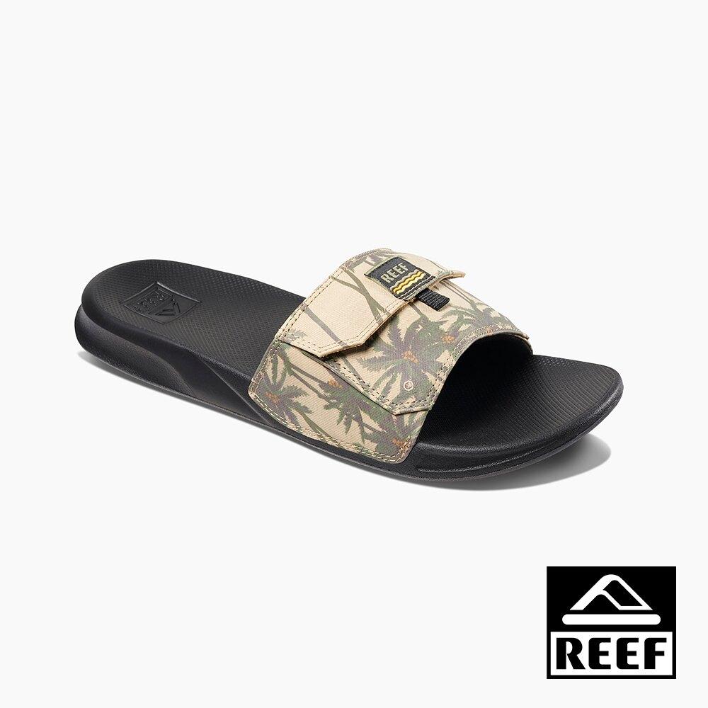 REEF 一片式非夾腳系列 人體工學口袋款 男款拖鞋 - 黃褐棕梠 S20 RF0A3YMJTPM