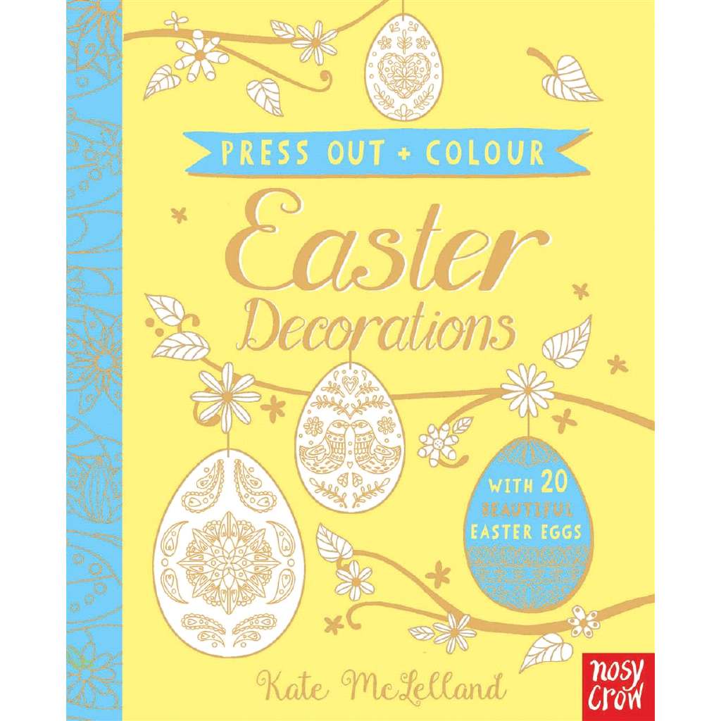 Press Out and Colour Easter Eggs【禮筑外文書店】(硬頁書)[69折]
