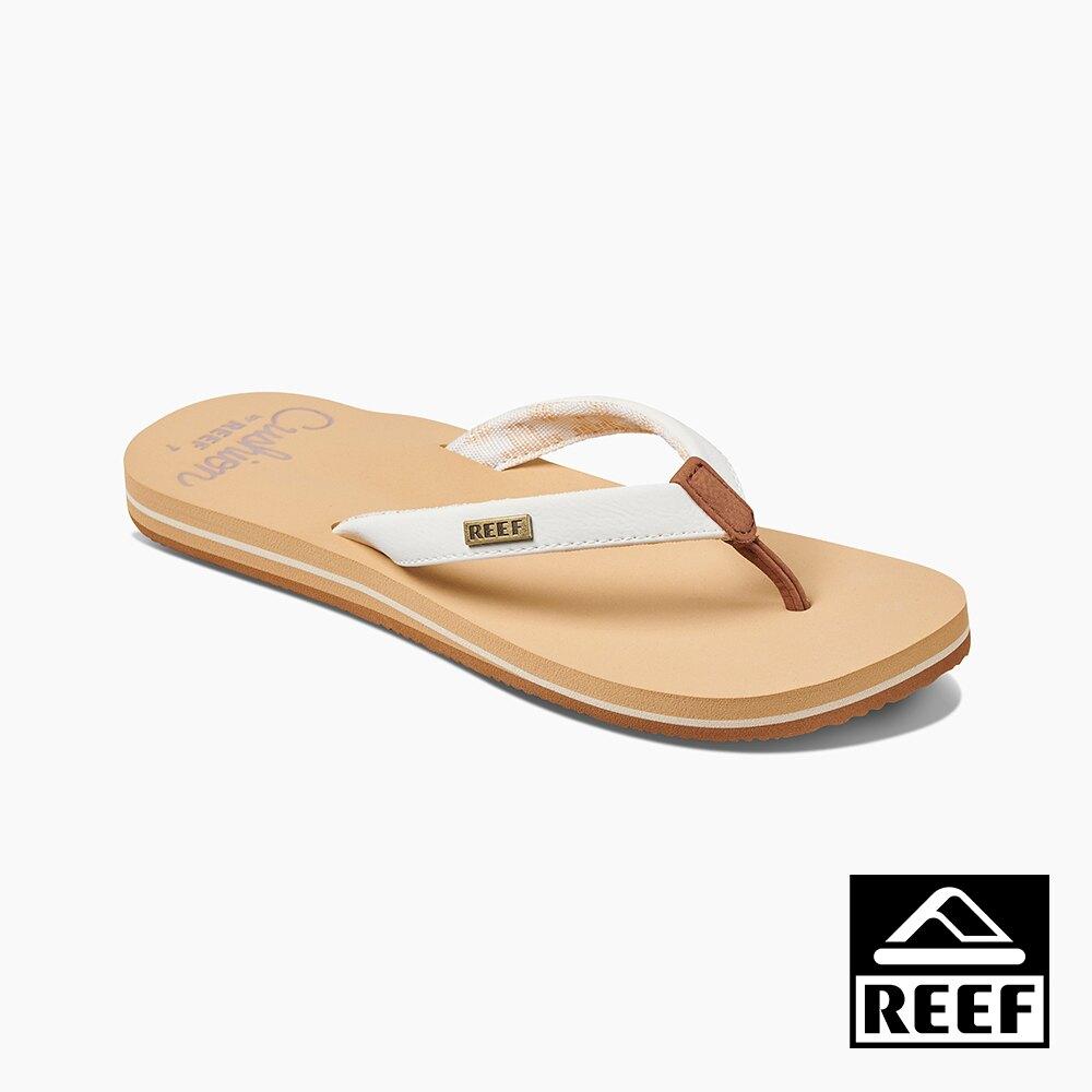 REEF 親水性系列 輕量化合成皮織帶 女款夾腳人字拖鞋 - 白雲 S20 RF0A3YOWCLD