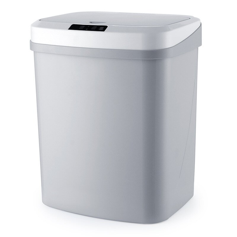 智能感應方形垃圾桶15L 觸碰靜音開蓋低耗環保 回收桶 自動感應 按壓式 垃圾筒 分類桶【ZI0603】【618年中慶 】《約翰家庭百貨