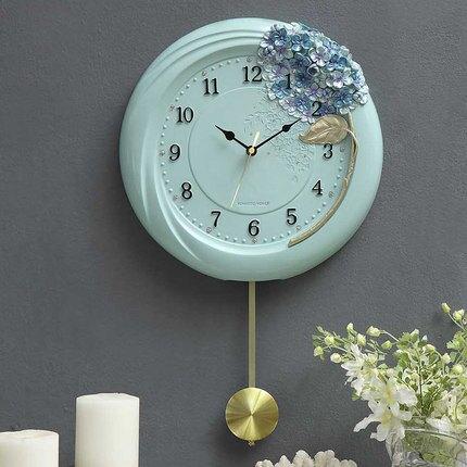 壁鐘 多好創意掛鐘歐式客廳時尚掛表圓形簡約時鐘靜音鐘錶擺鐘壁鐘『SS2785』