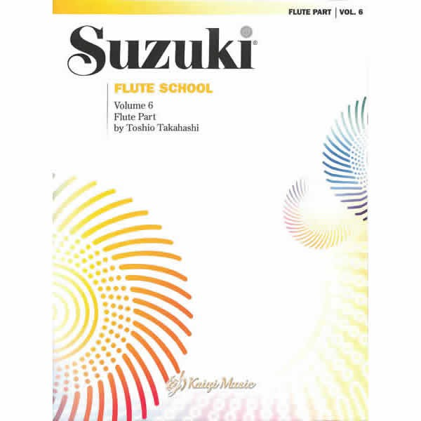 【Kaiyi Music】鈴木長笛單樂譜第6冊 Suzuki Flute School Flute Part Vol.6