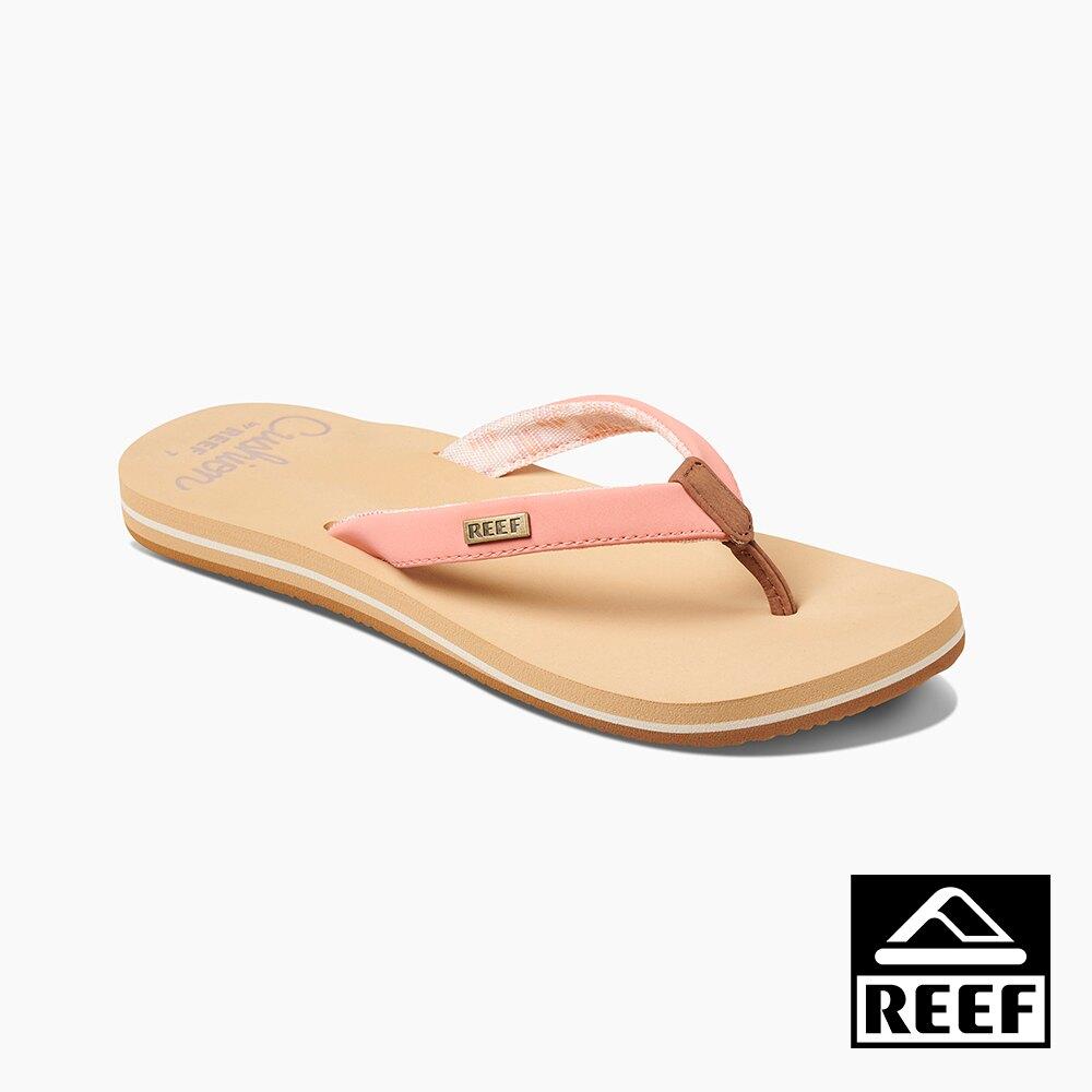 REEF 親水性系列 輕量化合成皮織帶 女款夾腳人字拖鞋 - 哈密瓜 S20 RF0A3YOWCNL
