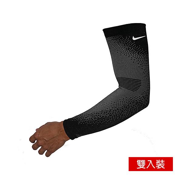 NIKE BREAKING 2 跑步臂套 防曬袖套 輕量 排汗透氣 保暖 雙入裝 黑色 N0003571042