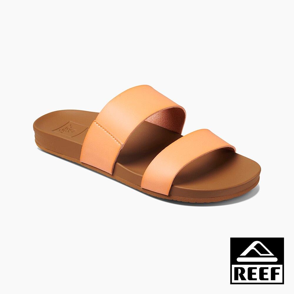 REEF 能量彈力系列 非夾腳兩片式織帶 女款拖鞋 - 哈密瓜 S20 RF0A3OKSCNL