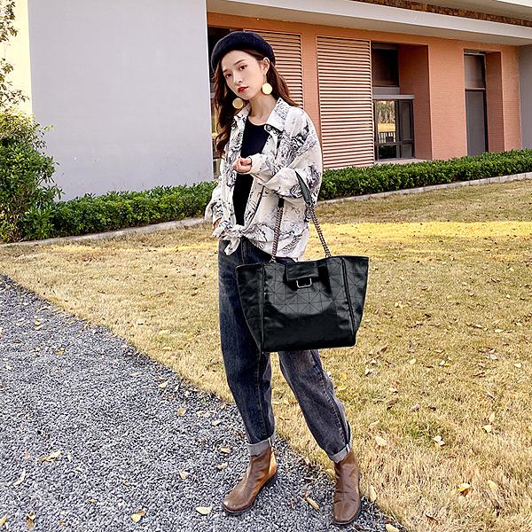 百搭簡約潮流女包包手提包 歐美時尚托特包大包包 日韓女包女士單肩包 女士軟質大容量托特包