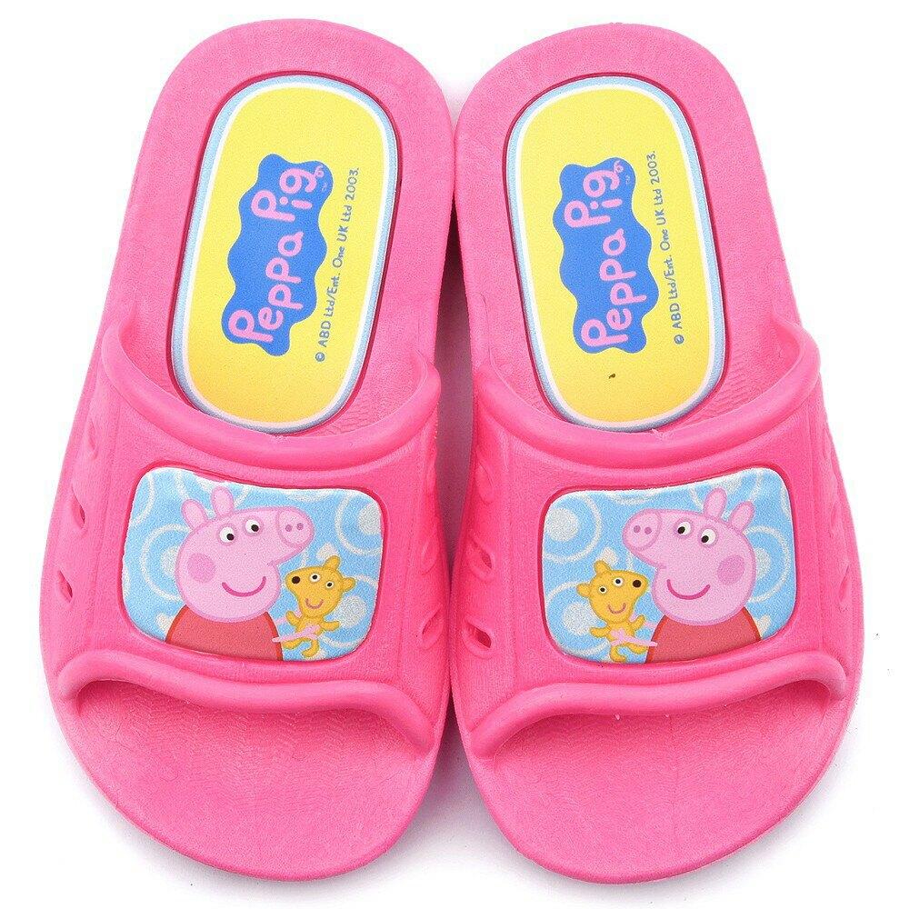 粉紅豬小妹 佩佩 喬治 幼童室內外拖鞋 PG0024 粉/藍(共二色)【童鞋城堡旗艦店】