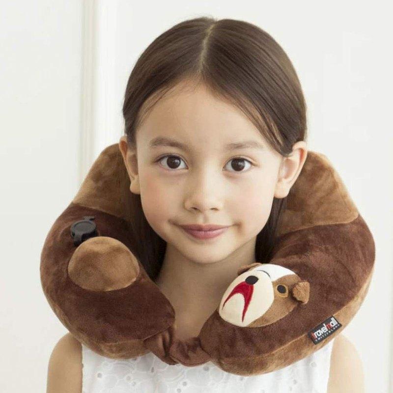 3D專利按壓式充氣頸枕  鬥牛犬版