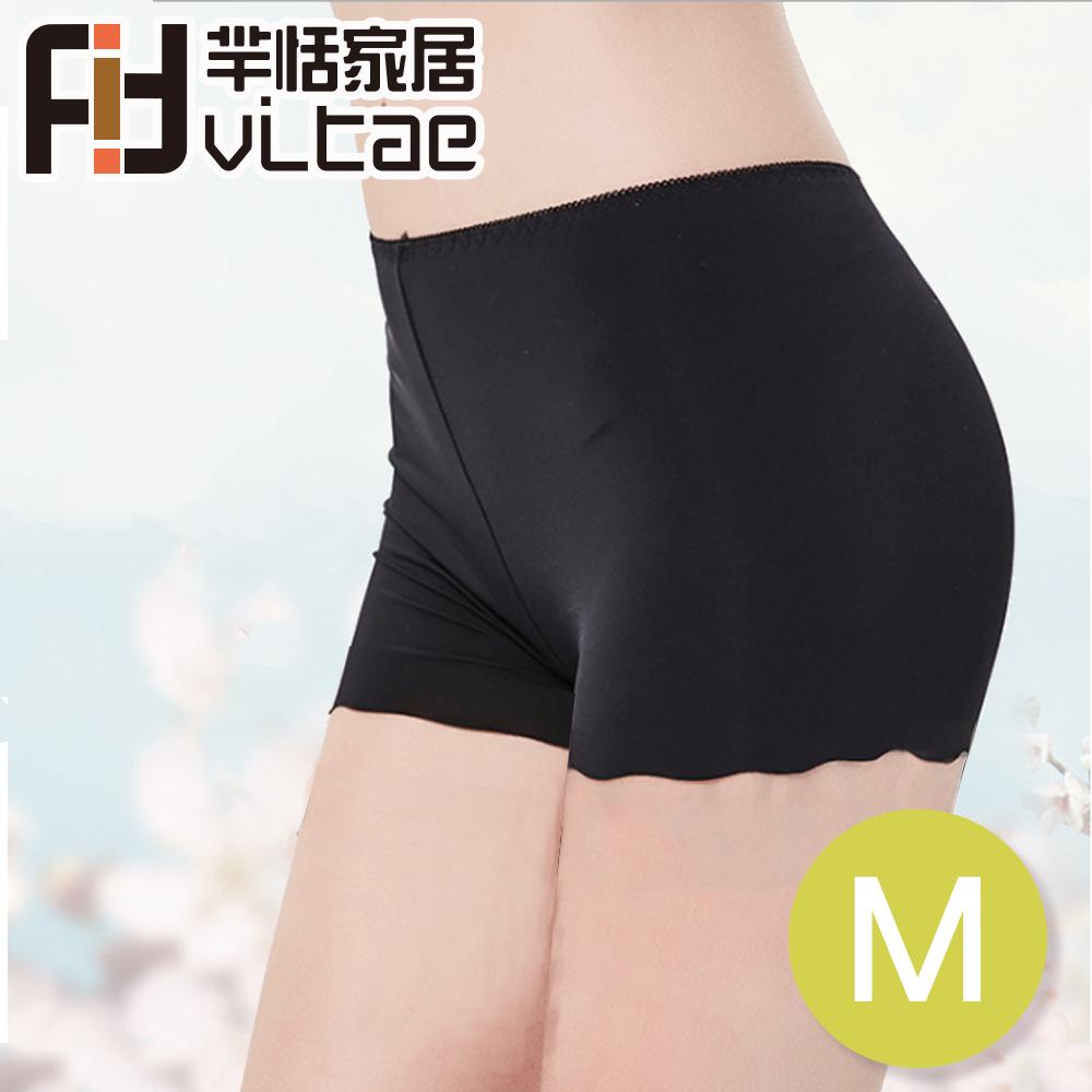 Fit Vitae羋恬家居 舒心冰絲無痕安全褲/防走光褲(M-黑色-二入組)
