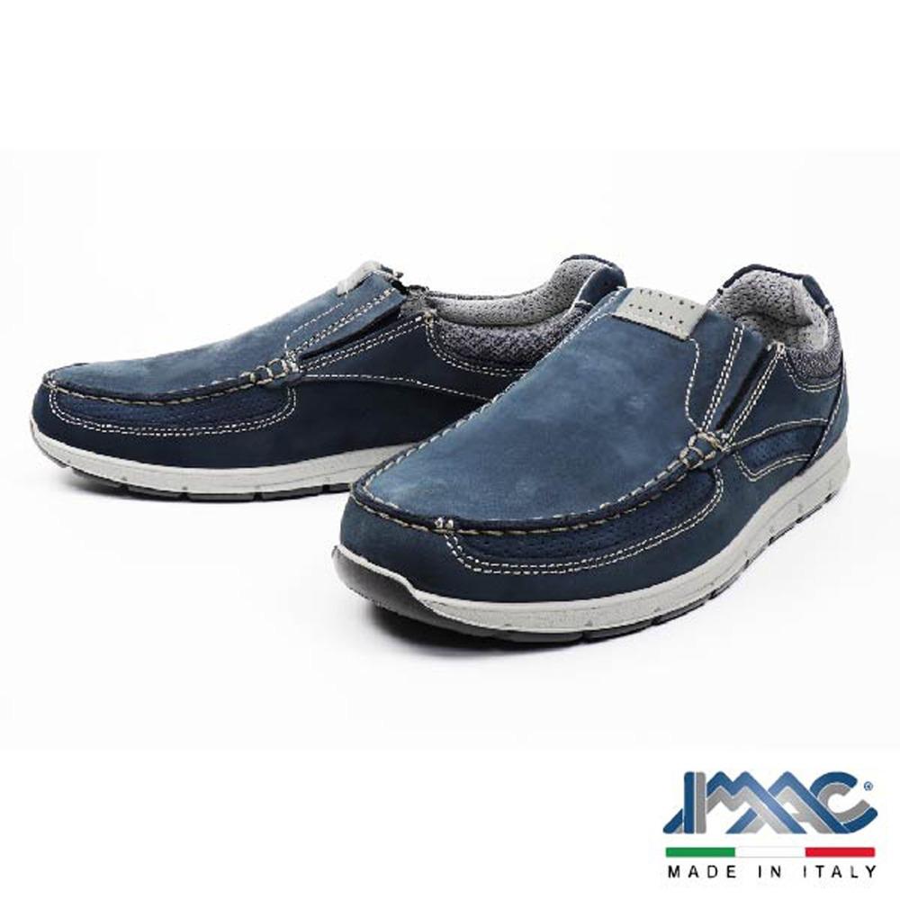 【IMAC】義大利便穿休閒刷毛旅遊鞋 藍色 (501870-BLU)