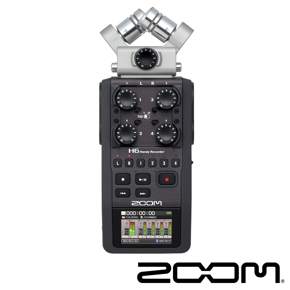 Zoom H6 手持數位錄音機-黑 (公司貨)