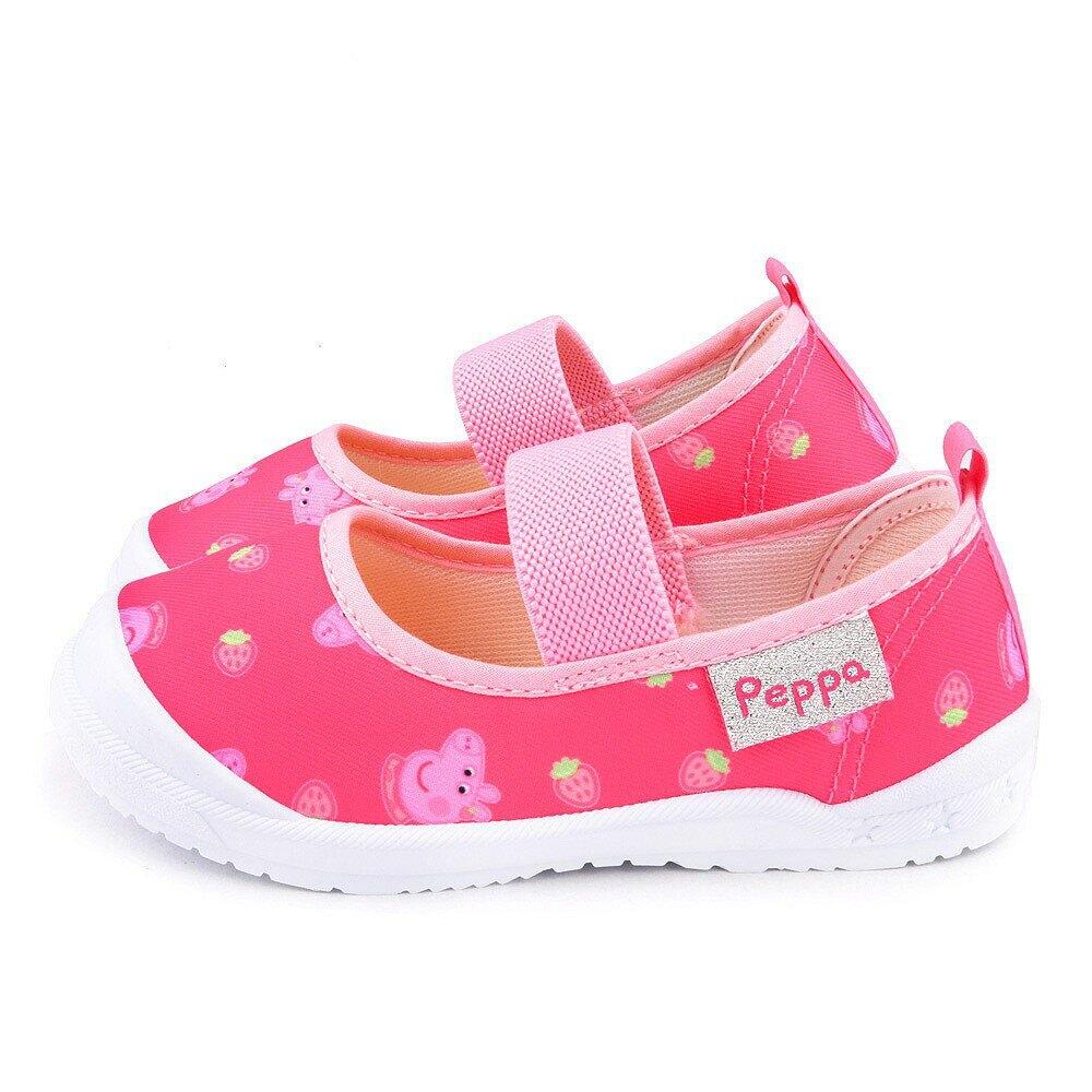 佩佩豬 草莓造型 幼童室內鞋 戶外休閒鞋 PG8531 粉/ 藍(共二色)【童鞋城堡旗艦店】