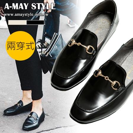 現貨紳士鞋-兩穿式摩登金鍊飾樂福鞋【XSUN702】*艾美時尚