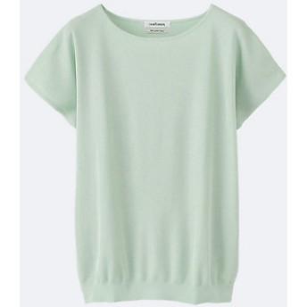【送料無料】<ニューヨーカー/NEWYORKER 大きいサイズ> 大きいサイズ Dress Knit ヴィスコースポリエステル半袖プルオーバー ライトグリーン【三越・伊勢丹/公式】
