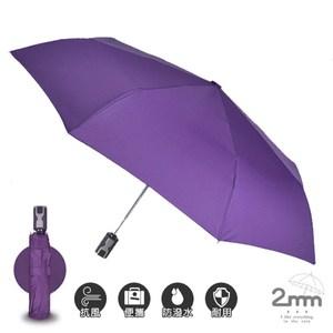 2mm 第三代通勤加固抗風自動開收傘_神秘紫