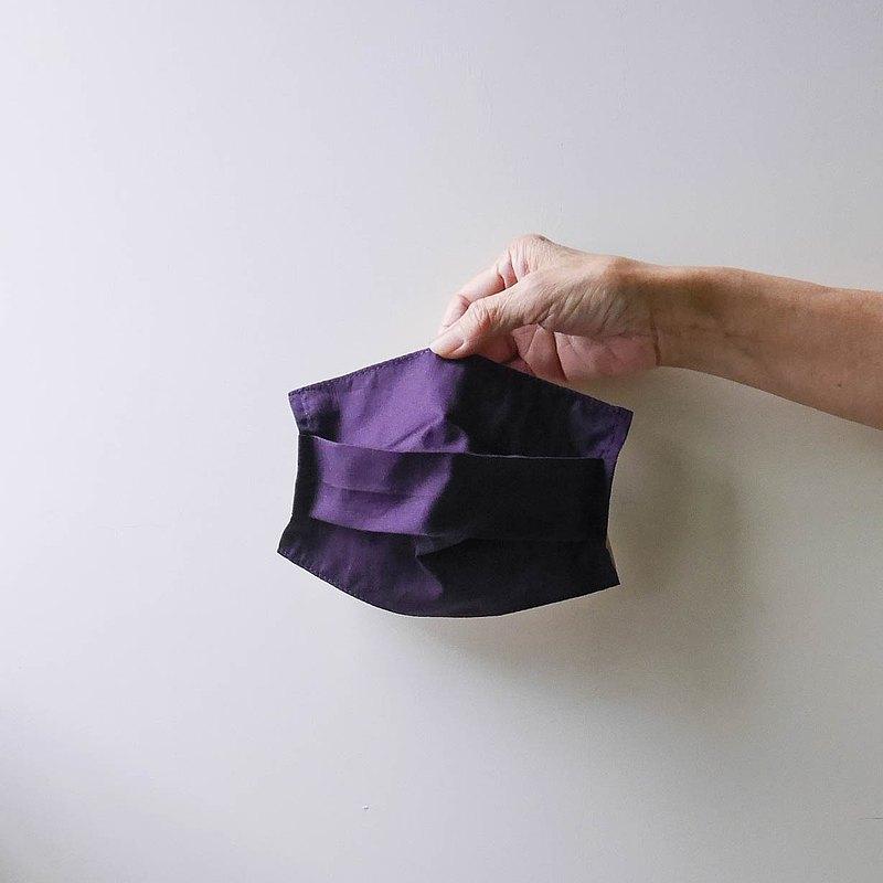 夏日薄棉口罩套-深紫