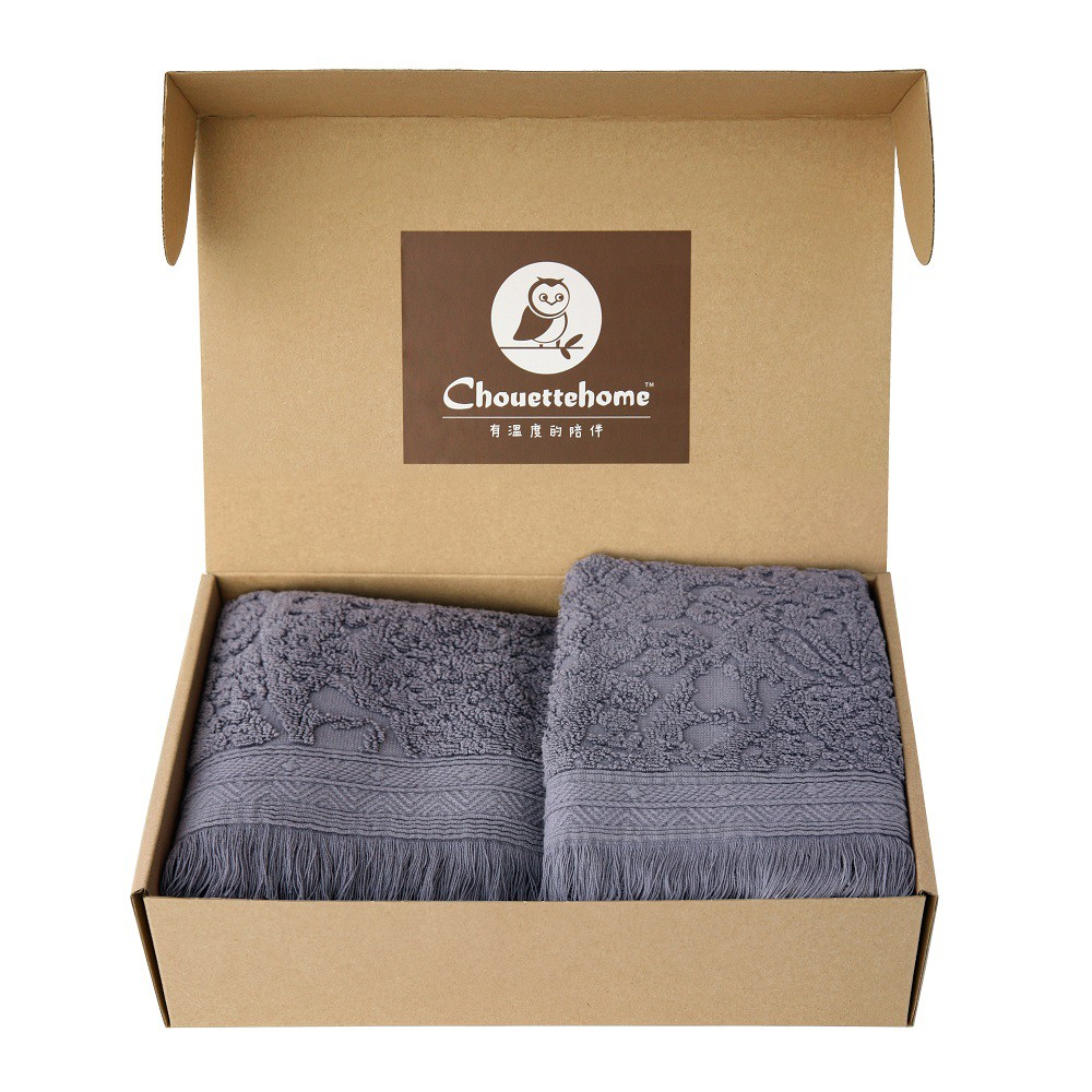 【送禮首選】謎 小毛巾(30x50cm)+浴巾(70x140cm) 2件組 毛巾禮盒 純棉親膚 厚實吸水 流蘇設計