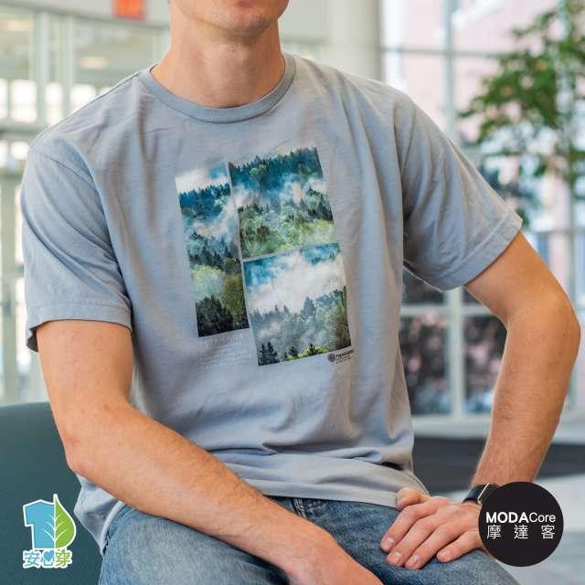 摩達客-預購-美國The Mountain都會系列 霧境 中性修身短袖T恤