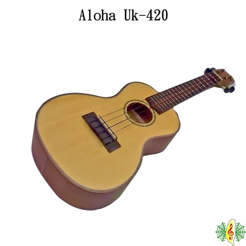 烏克麗麗 Ukulele Concert Aloha 23吋 雲杉 桃花心木 單板 (贈 調音器 厚袋) [網音樂城]