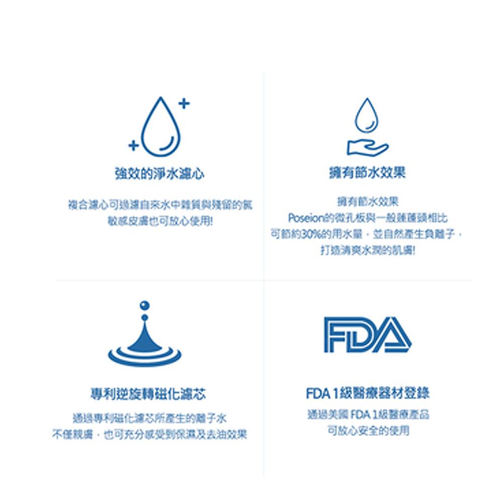 Poseion磁化離子水生成器(99%抑菌淨水)+複合濾蕊(4支入)