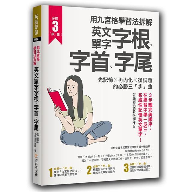 用九宮格學習法拆解英文單字字根、字首、字尾:先記憶 ╳ 再內化 ╳ 後試題的必勝三「步」曲