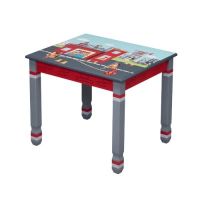 Teamson 童趣手繪木製兒童桌子 (救火小英雄)