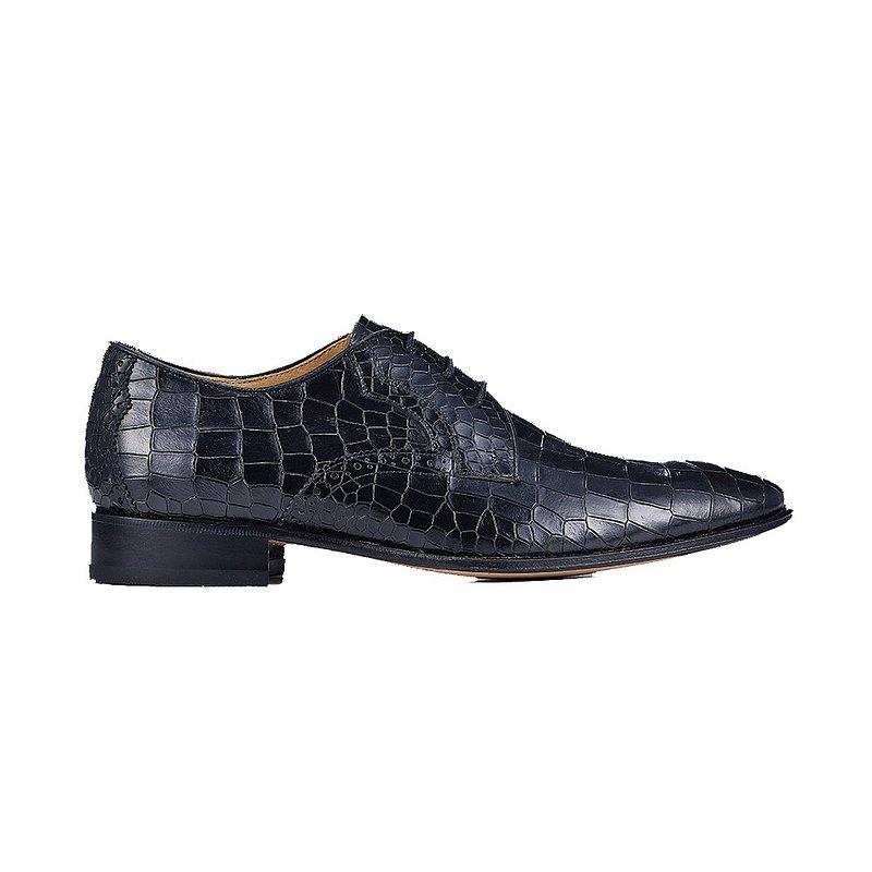 鱷魚紋牛津鞋