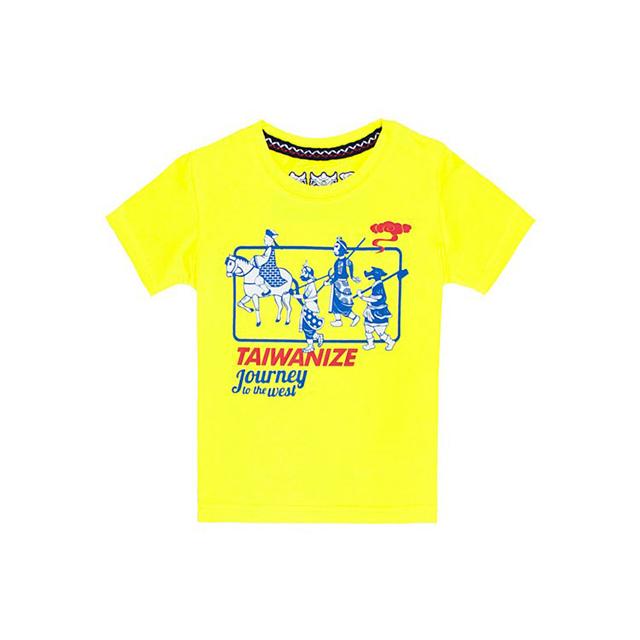 【TAIWANIZE】西遊記莫代爾棉短袖童T-shirt (黃)