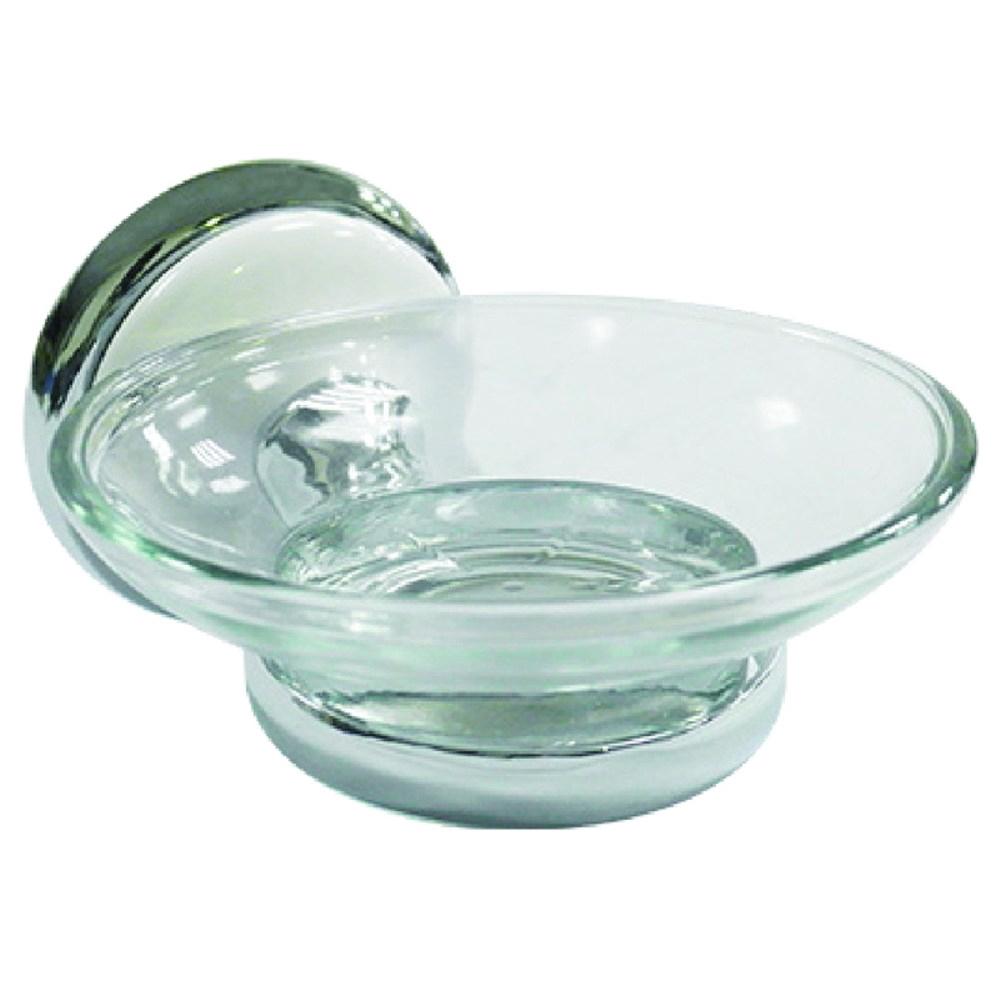 特力屋 陶瓷白鉻香皂盤架