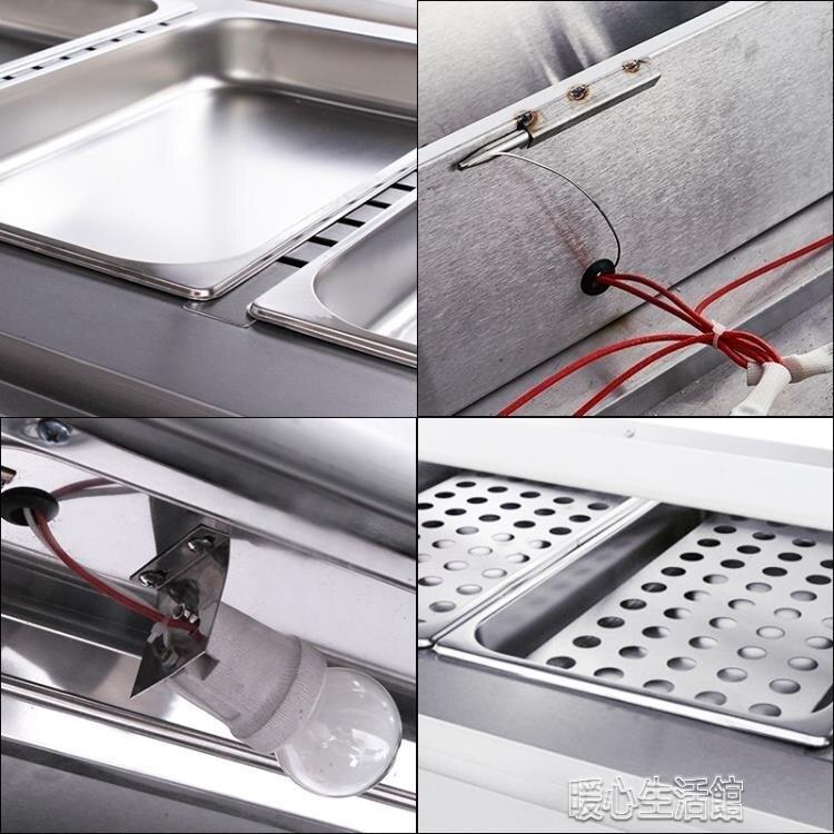 加熱保溫櫃商用展示櫃蛋撻保溫保濕機漢堡熟食保溫箱食品陳列櫃YJT