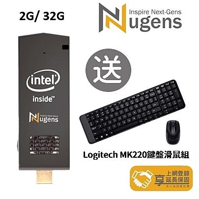 Nugens MiniPC HDMI 迷你電腦棒 (2G/32G 送MK-T5W 六軸無線語音鍵鼠)