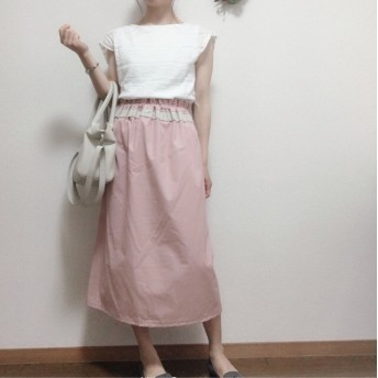 10-1 パウダーピンクのスリットスカート