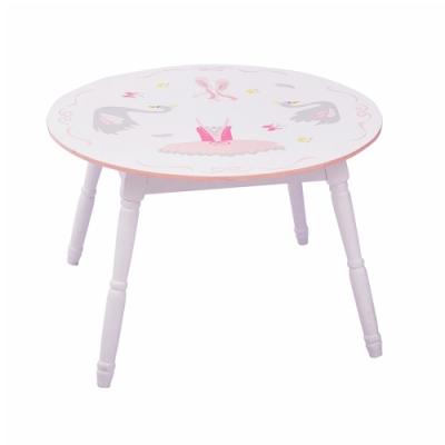 Teamson 童趣手繪木製兒童桌子 (天鵝湖芭蕾)