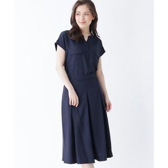 <SOUP> INNOWAVE スキッパーシャツ+キュロットパンツセット(2001633748) アオ【三越・伊勢丹/公式】