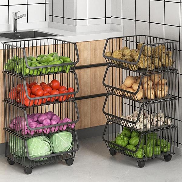 居家家廚房置物架落地多層蔬菜收納架子廚房用品家用大全台面神器 【快速】