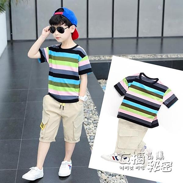 童裝男童夏裝套裝新款兒童夏季短袖夏天中大童帥氣男孩衣服潮 衣櫥秘密
