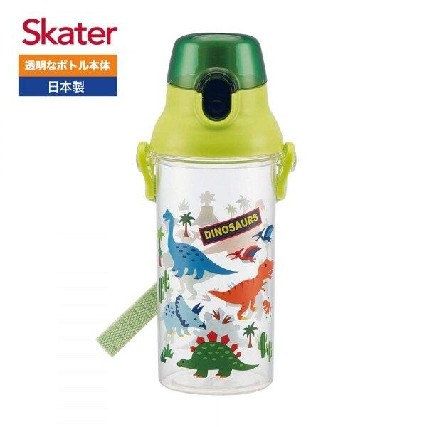 日本 Skater 卡通直飲式水壺 480ml 恐龍 兒童直飲式 透明冷水壺 Unicorn