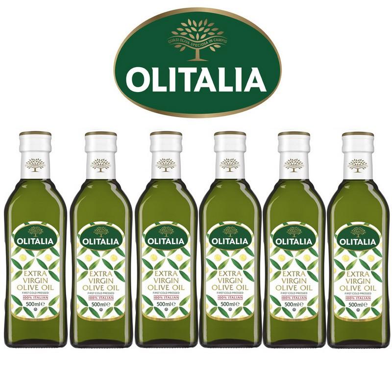 Olitalia奧利塔超值特級初榨橄欖油禮盒組(500ml x 6瓶)