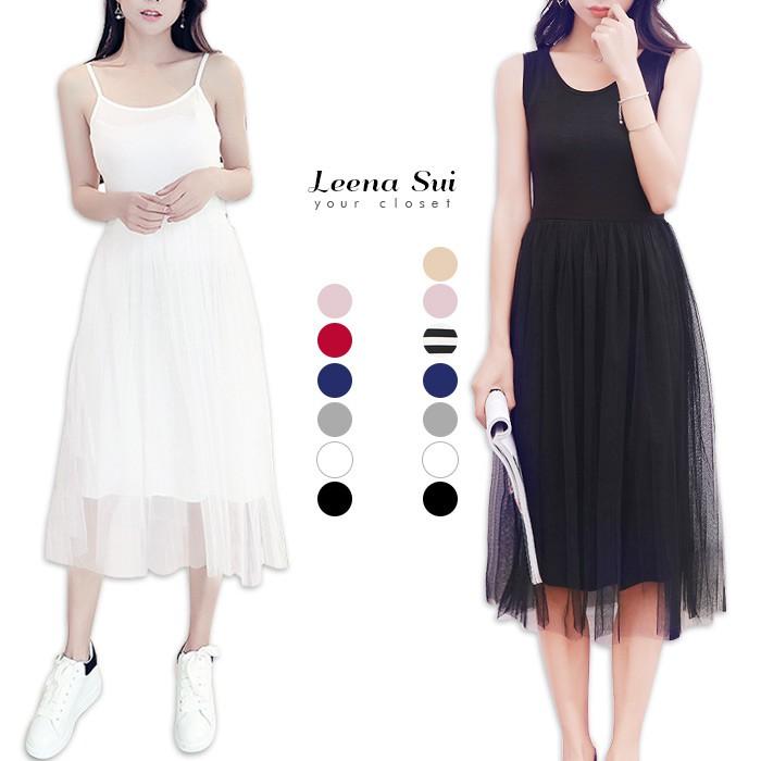 洋裝 網紗洋裝 細肩帶洋裝 晚宴禮服婚紗 甜美小清新網紗拼接莫戴爾連衣裙 M061906