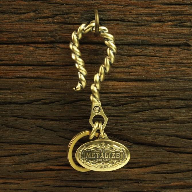 【METALIZE】麻花大勾 Triumph 雕花飾牌鑰匙圈 官方直營店鋪