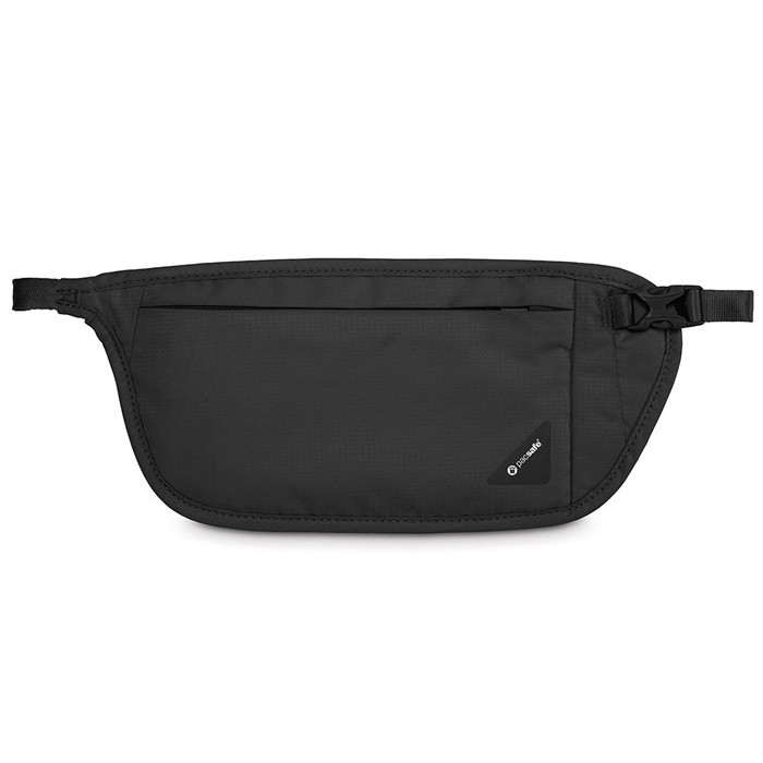【Pacsafe 澳洲】Coversafe V100 RFID 貼身腰掛暗袋 旅遊防盜腰包 黑色 (10142100)