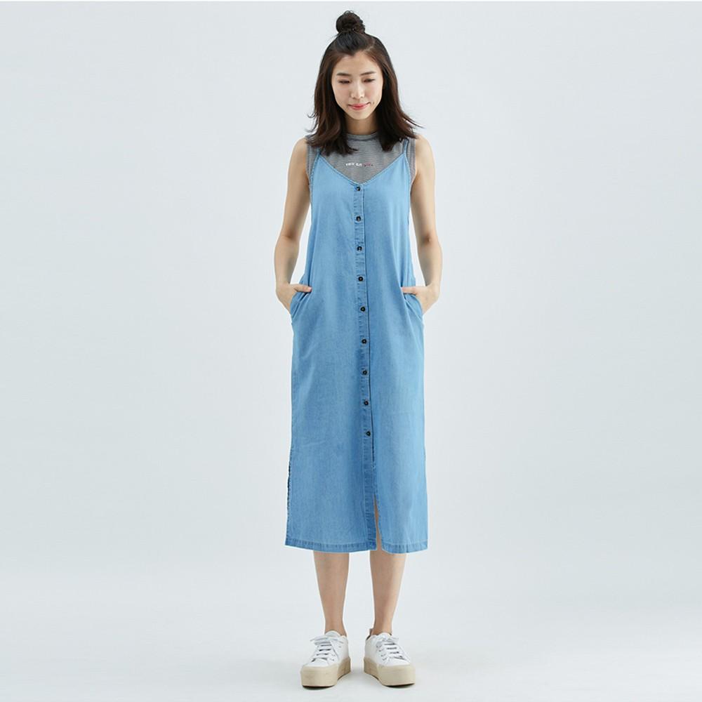 【ERSS】造型洋裝連身裙- 女 重漂藍 S90010