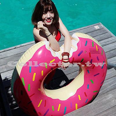 咬一口甜甜圈游泳圈-120cm 成人 充氣浮圈救生圈加大加厚泳圈
