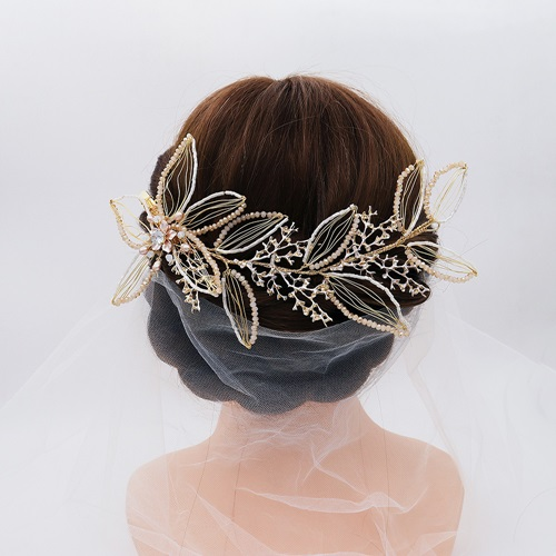 【米蘭精品】髮夾+耳環套裝-珍珠鋯石花朵水晶女飾品73xr14