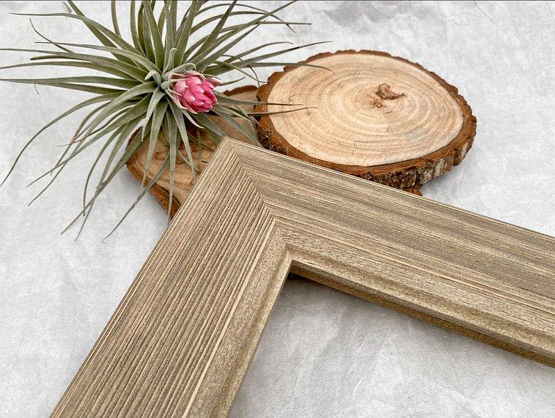 【105咖金金紐西蘭松木相框】尺寸客製化訂製/拼圖框
