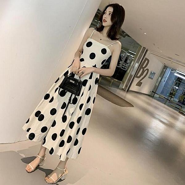 一字领洋装 夏季流行新款仙女超仙森系裙子女很仙的小清新性感露揹吊帶洋裝