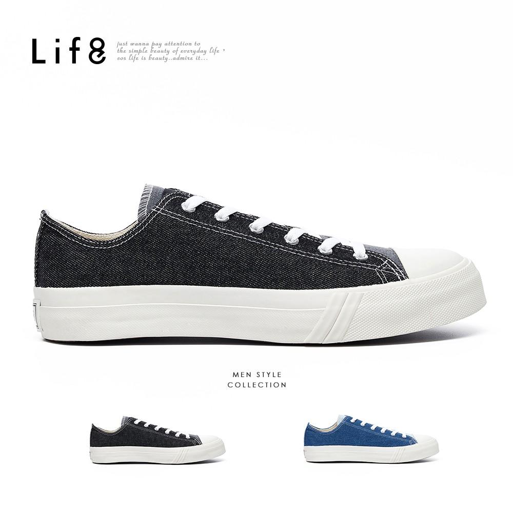 Life8-Casual MIT 水洗牛仔 休閒帆布鞋-09969
