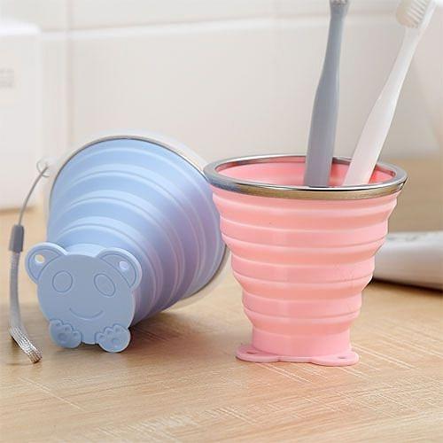 旅行折疊矽膠杯 (升級款250ml) 便攜式伸縮迷你漱口杯